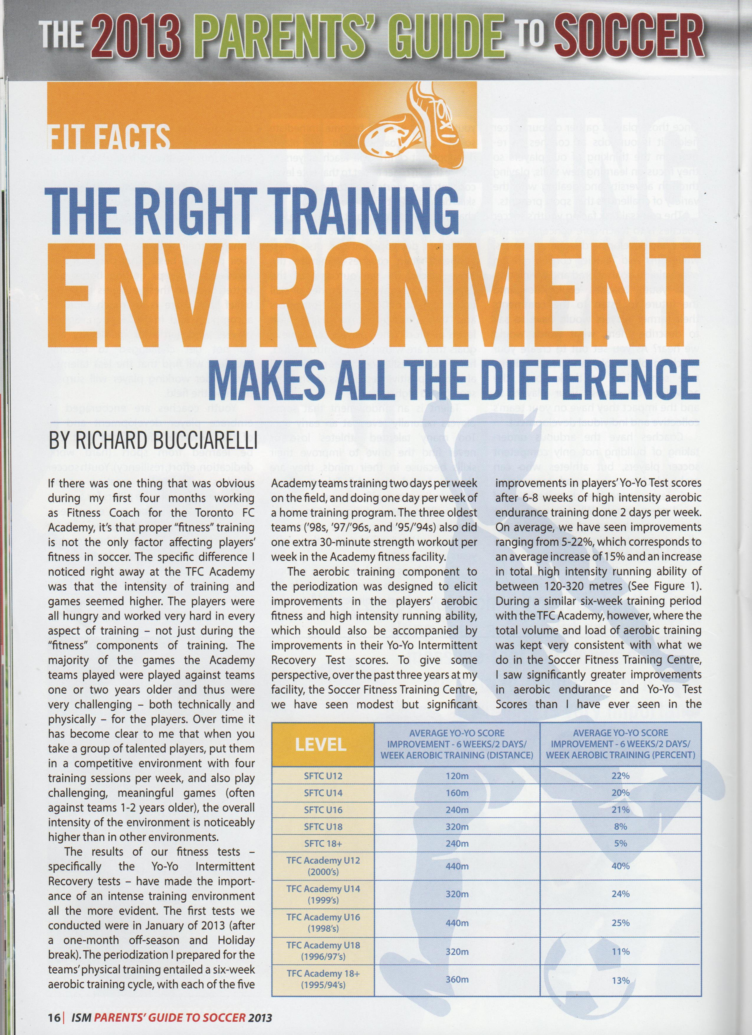 "New Article ""The Right Training Environment Makes All The"